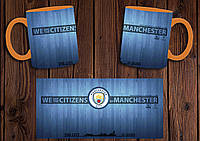 "Чашка ""ФК Манчестер Сити"" / Кружка ""Manchester City"" №3 Оранжевый"