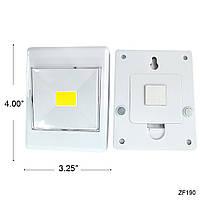 Светодиодный LED светильник ночник выключатель на батарейках COB Switch Light Switch