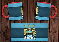 """Чашка """"ФК Манчестер Сити"""" / Кружка """"Manchester City"""" №4 Красный"""