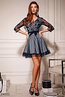 Женское расклешенное короткое платье С М Л M