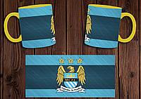 """Чашка """"ФК Манчестер Сити"""" / Кружка """"Manchester City"""" №4 Желтый"""