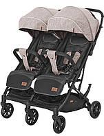 Детская прогулочная коляска для двойни Carrello Presto Duo (бежевый цвет)