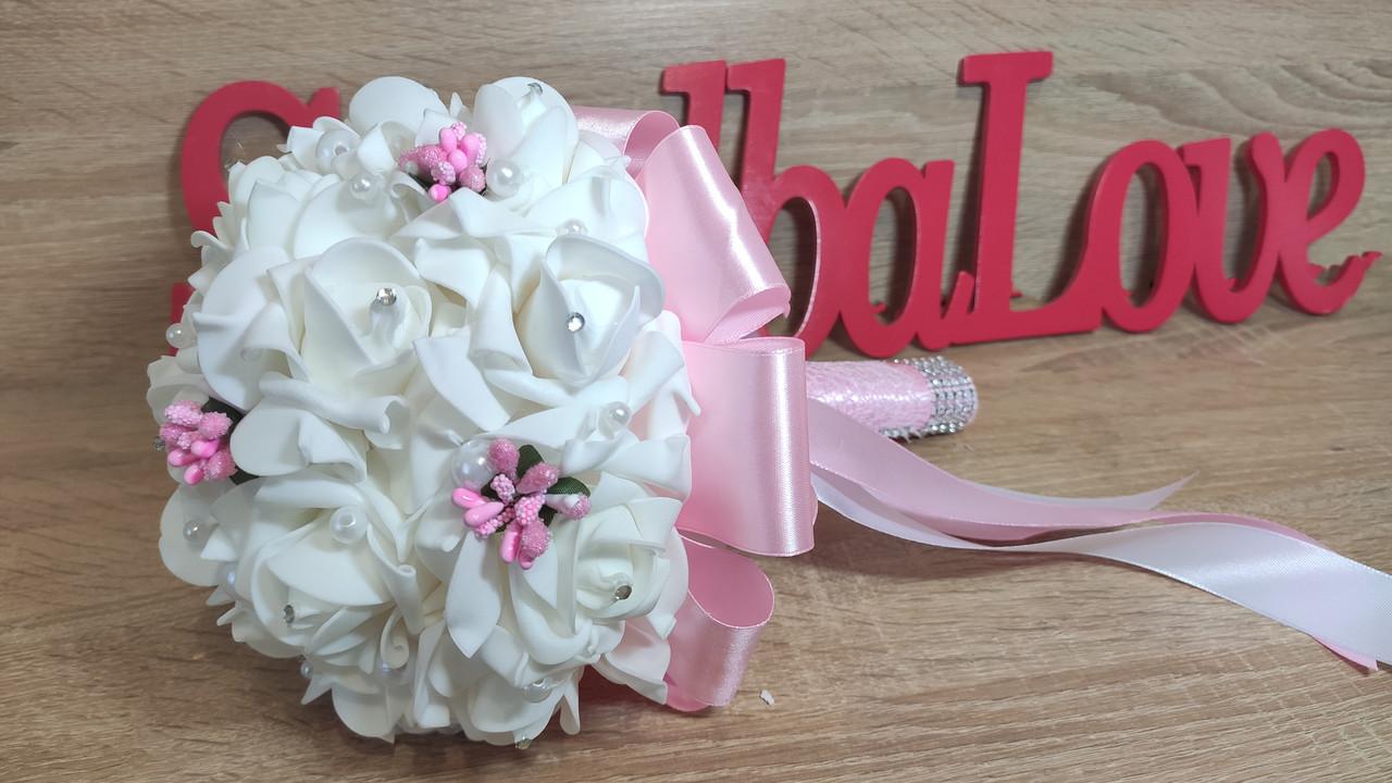 Свадебный букет  для невесты Нежность. Цвет розовый.