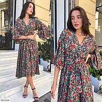 Женское лёгкое летнее платье с цветочным принтом