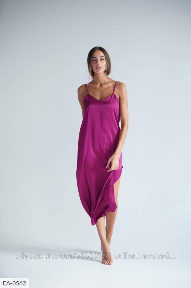 Женское шелковое платье-майка в бельевом стиле