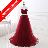 Красное вечернее платье «Моника»  Платье в пол красное.Вишневое платье.