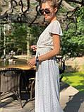 Легке літнє плаття міді в горошок DM2129, фото 4