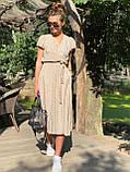 Платье легкое летнее миди в горошек DM2129, фото 5