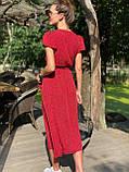Платье легкое летнее миди в горошек DM2129, фото 2
