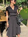 Легке літнє плаття міді в горошок DM2129, фото 7