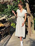 Платье легкое летнее миди в горошек DM2129, фото 3