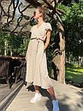 Платье легкое летнее миди в горошек DM2129, фото 6