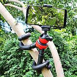 Штатив гибкий мини для GoPro, телефона, фотоаппарата + ПОДАРОК, фото 4