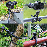 Штатив гибкий мини для GoPro, телефона, фотоаппарата + ПОДАРОК, фото 5