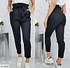 Женские модные брюки с поясом в актуальных, фото 2