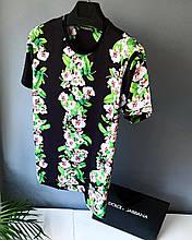 Мужская футболка в стиле Dolce & Gabbana черная(размер L)