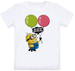 Детская футболка Fat Cat Миньон - Ba-ba-ba Banana (белая)