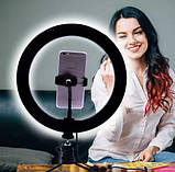 Кольцевая LED лампа для селфи 26 см, LED ЛЕД кольцо, фото 3