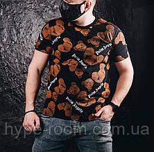 Мужская футболка в стиле Palm Angels черная(размер S)
