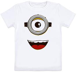 Детская футболка Fat Cat Миньон - Лицо (белая)