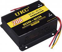Преобразователь напряжения 24 в 12 V Авто инвертор конвертор UKC DC/DC 24v-12v 20 A