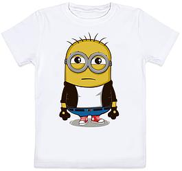 Детская футболка Fat Cat Миньон - Хулиган (белая)