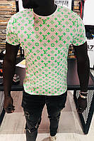 Мужская футболка в стиле Louis Vuitton белая(размер S)