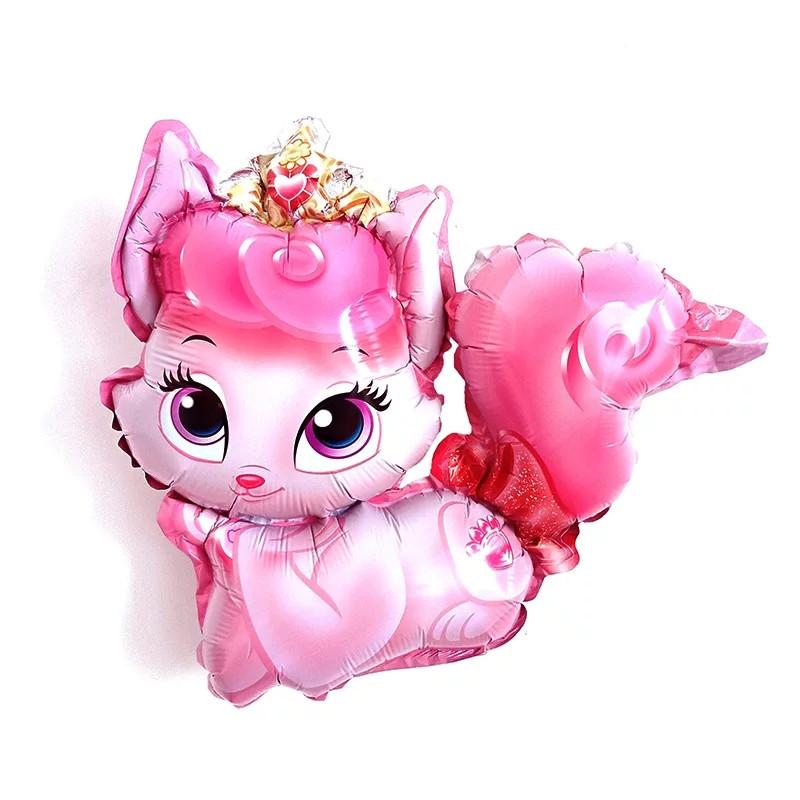 Міні фольгований куля кішечка рожева 41*37 см