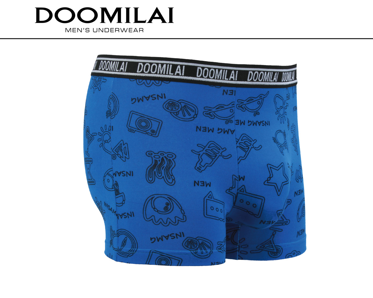 Мужские боксеры (батал) стрейчевые из бамбука  Марка  «DOOMILAI» Арт.D-01362