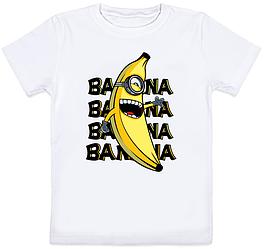 Детская футболка Fat Cat Миньон - Banana, banana, banana, banana (белая)