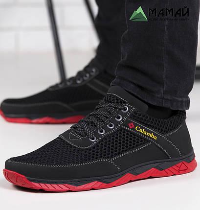 Кросівки чоловічі сітка червона підошва 40р, фото 2