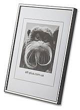 Рамка 10х15 из алюминия - Серебро глянец 6 мм - со стеклом