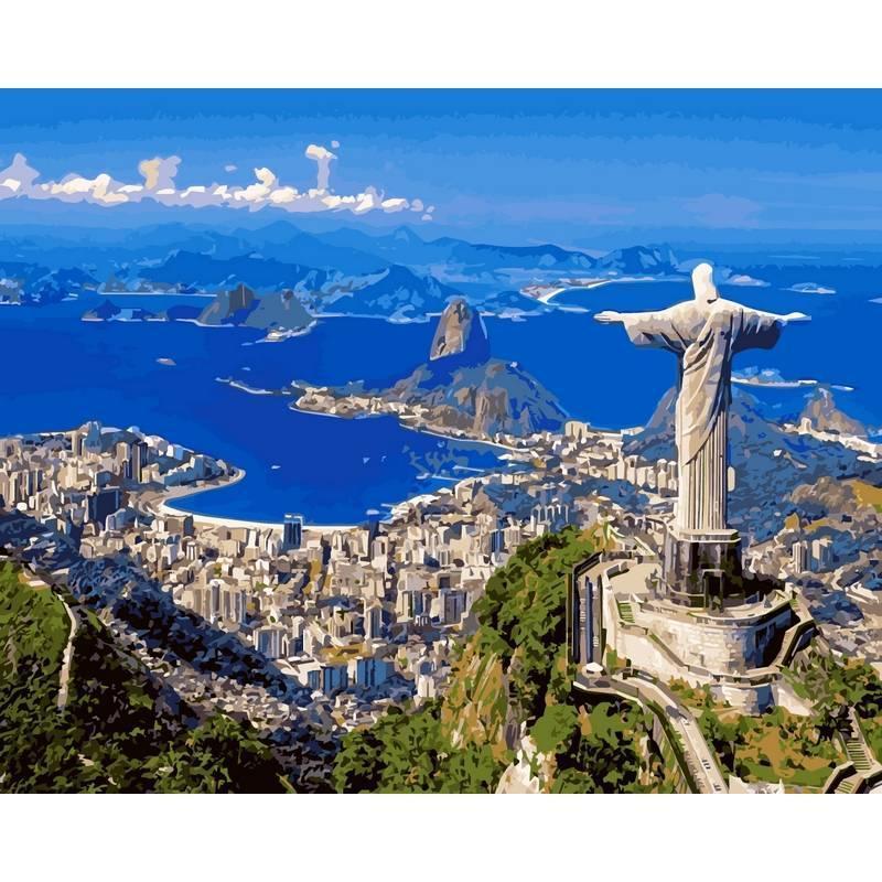 Картина по номерам Рио-де-Жанейро, 40x50 см., Babylon