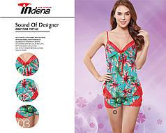 Женский комплект для сна с майкой и шортами Марка «INDENA» Арт.9147