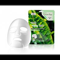 Тканевая маска для лица с  экстрактом зеленого чая,  3W Clinic Fresh Green Tea Mask Sheet, Корея, фото 1