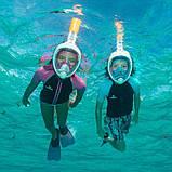 Панорамна маска для плавання, снорклінга FreeBreath., фото 5
