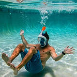 Панорамна маска для плавання, снорклінга FreeBreath., фото 6