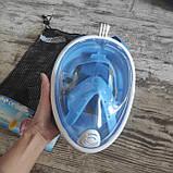 Панорамна маска для плавання, снорклінга FreeBreath., фото 2