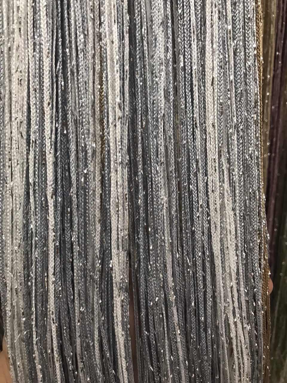 Шторы нити Радуга Дождь №1+7, кисея 3х3 м