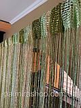 Шторы нити Радуга Дождь №13-15-19, кисея 3х3 м, фото 3