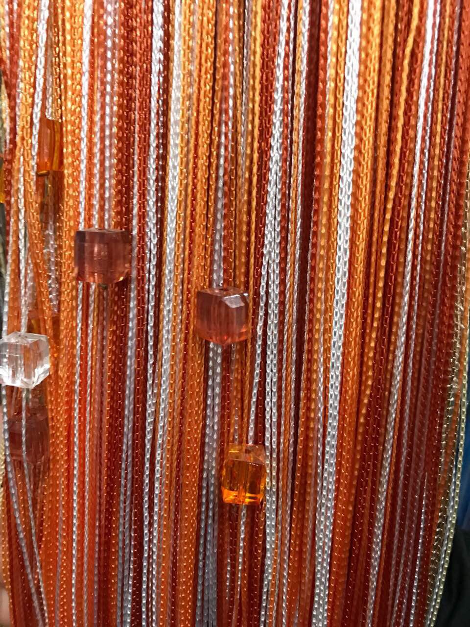Шторы Нити радуга с квадратным стеклярусом №1+2+3