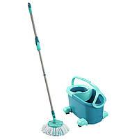Набор для уборки Leifheit CLEAN TWIST Disc Mop Ergo Mobile / Швабра, ведро / Набор для мытья полов
