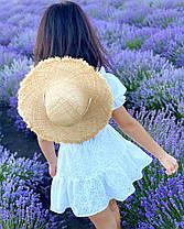 Літній костюм з натуральних тканин короткий топ і міні спідниця-шорти, фото 2