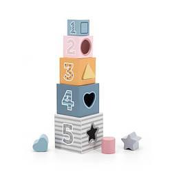 Детские деревянные кубики Viga Toys PolarB Сортируем и складываем, 5 шт.
