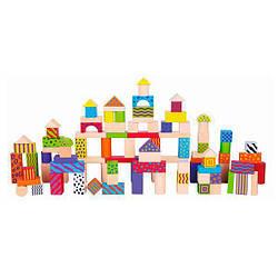 Детский набор Viga Toys деревянных строительных блоков, 100 шт.
