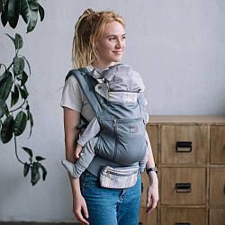 Детский Эрго - рюкзак с регулируемым сиденьемДзен Love & Carry, серый