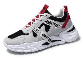 Кроссовки в стиле Off-White черно-белые