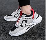 Кроссовки в стиле Off-White черно-белые, фото 2