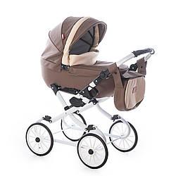 Детская кукольная коляска Broco Mini 2020 03, коричневая