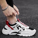 Кроссовки в стиле Off-White черно-белые, фото 3